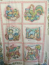 Vintage Baby Fabric Pink Quilt Top Pillow Panel wall hanging pastel prim... - $19.55
