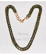 Voro Round - Green and Gold Round Maille Chainmail Necklace - $70.00