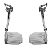 Drive Medical Chrome Footrests with Aluminum Footplates - $37.47
