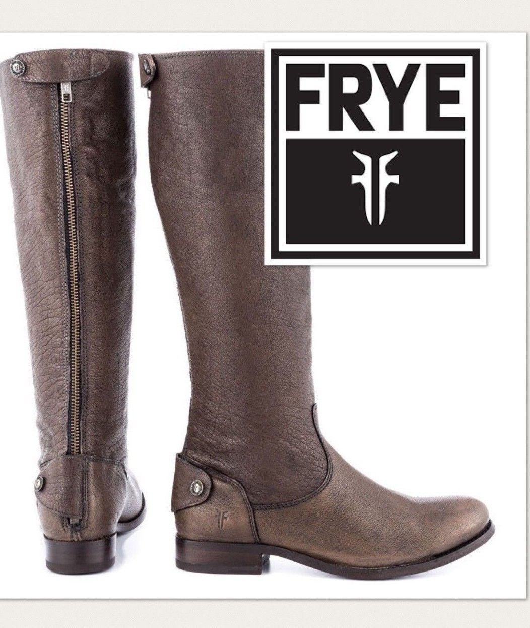 92b225633ff FRYE Riding Boots Melissa Button Back Zip and 50 similar items. 57