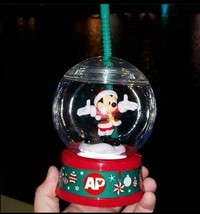 Disney World Annual Passholder 2020 Christmas Santa Mickey Snowglobe Sip... - $64.34