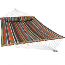 Sunnydaze 2-Person Quilted Spreader Bar Hammock Bed and Pillow - Canyon ... - $78.04