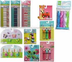MADE FOR RETAIL* Basket Filler EASTER Erasers+Pencils+Bubble Wands *YOU ... - $2.99