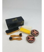 Vintage Kiwi shoe shine compact travel kit horsehair mixture USA - $34.78