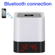 Boytone BT-83CR Portable FM Radio Alarm Clock Wireless Bluetooth 4.1 Spe... - $44.75