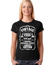 Women's Birthday Gift T-shirt 1986 Birthday Born In 1986  Tee Birth year 1986 - $10.99