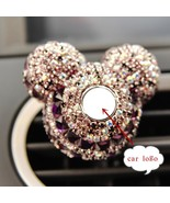 Lady Car Logo Perfume Diamond Air Conditioner Clip Decoration Women Fres... - $9.85