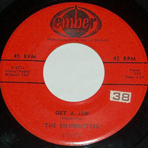 45 RPM The Silhouettes i Am Lonely, Get A Job Ember Vinilo Jazz Record E... - $16.11