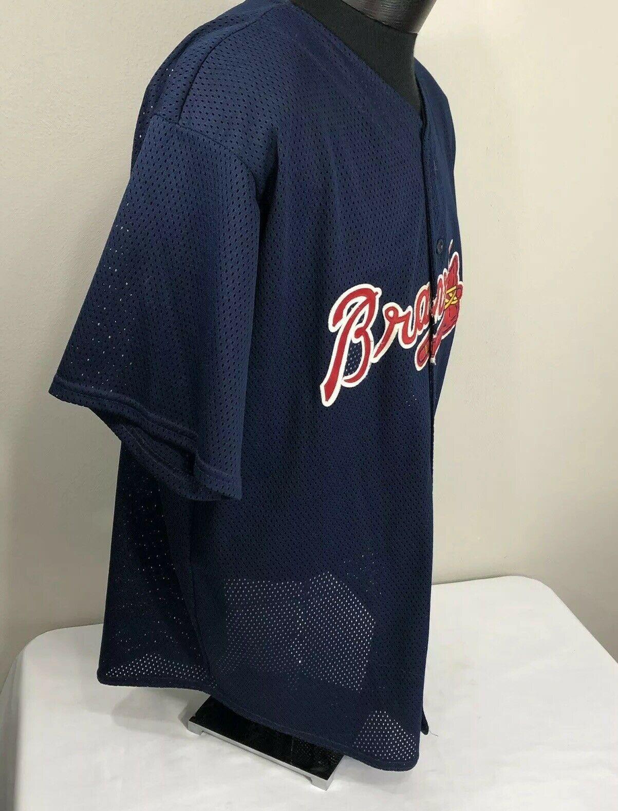 VTG Atlanta Braves Jersey Deion Sanders #24 2XL XXL 90s MLB Baseball Sewn
