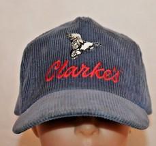 Vintage CLARKS Corduroy Snap Back Adjustable Baseball Cap - $17.32