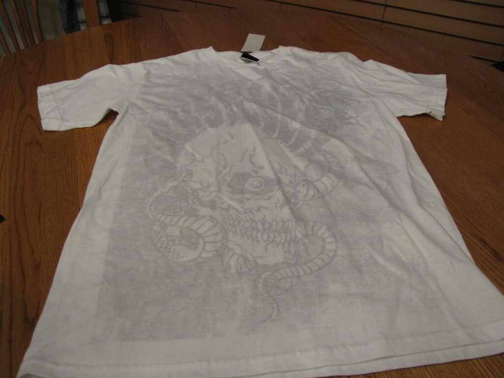 Boys Quiksilver BTO T shirt surf skate XL gutter white TEE surf skate