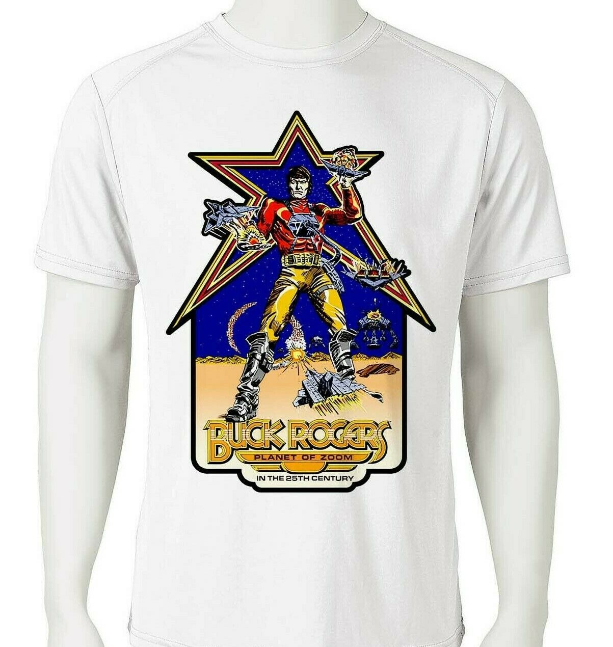 Buck rogers tee retro comics dri fit for sale online graphic tshirt
