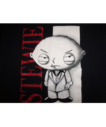 Family Guy TV Show Stevie Character In Suit Black Graphic Print T Shirt ... - $17.46