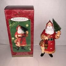 Hallmark Keepsake Ornament Winterberry Santa  2000 - $10.00