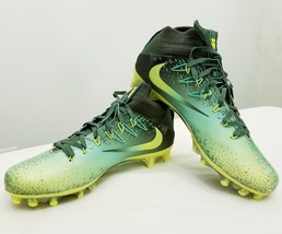 Nike Vapor Untouchable 2 Football Cleats - 824470-337 - Green / Volt - Size: 10 - $79.19