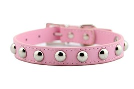 Leather Studded Rivet Dog Collars for Puppy Small to Medium Pet | Cut - $24.54