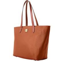 Dooney & Bourke Pebble Leather Large Zip Shopper Caramel Purse Handbag