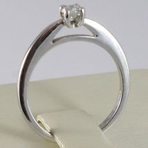 WHITE GOLD RING 750 18K, SOLITAIRE, BEZEL SETTING RAISED, DIAMOND CARAT 0.20 image 3
