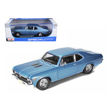 1970 Chevrolet Nova SS Coupe Blue 1/18 Diecast Model Car by Maisto 31132bl - $45.29