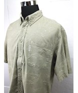 Columbia Men's Shirt Embroidered Fish Fishing Button Down Camp   Size: XL - $13.76