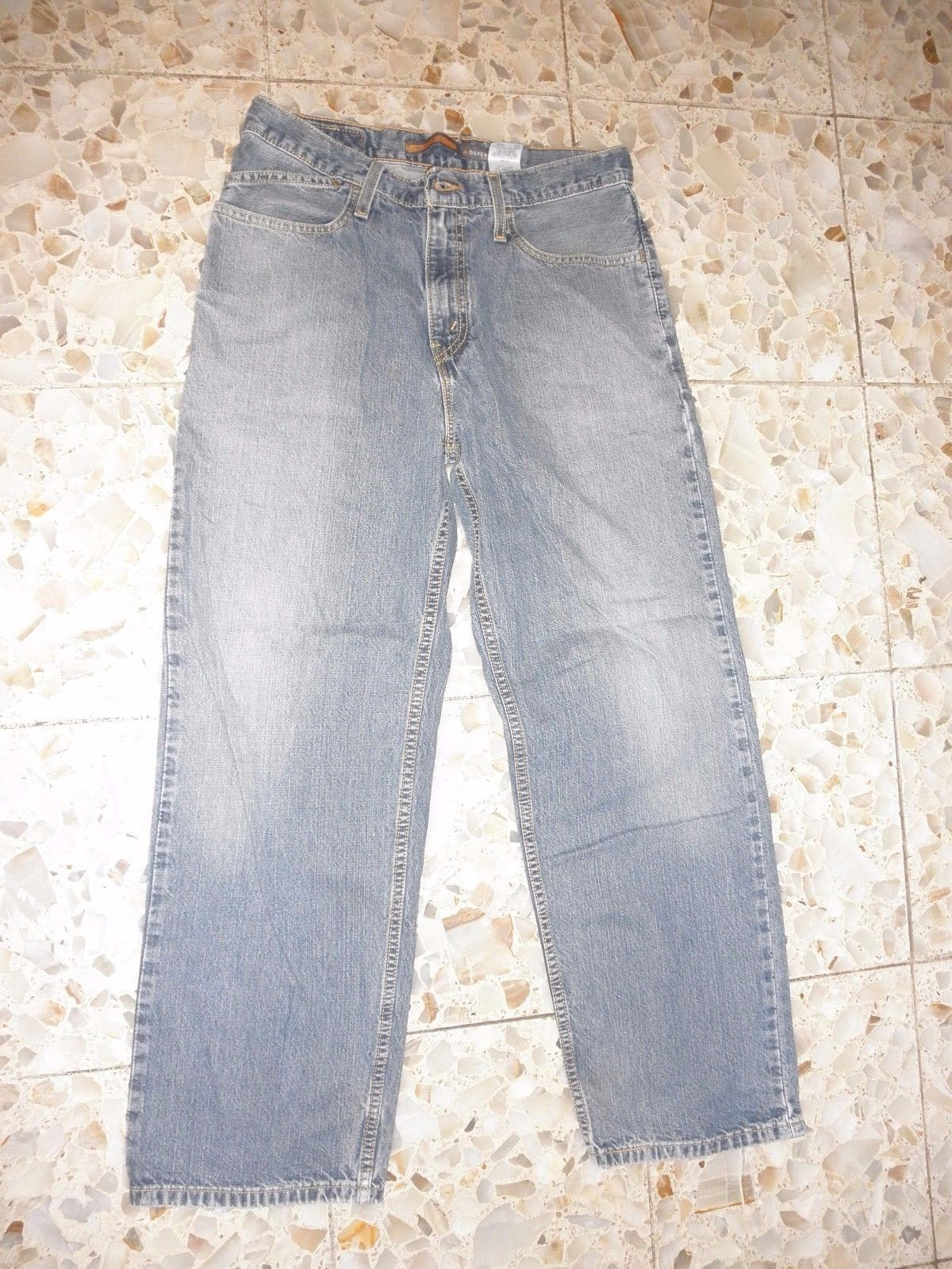 Levi's Silvertab  Loose and Low Blue Jeans 30x30 Pants 100% Cotton Silver Tab  - $28.71