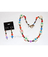 High Roller-Bone and Glass Dice Necklace with Earrings - $150.00