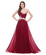 Sexy A Line Burgundy Tullle Women Prom Dress Floor Length Evening Party ... - $105.99
