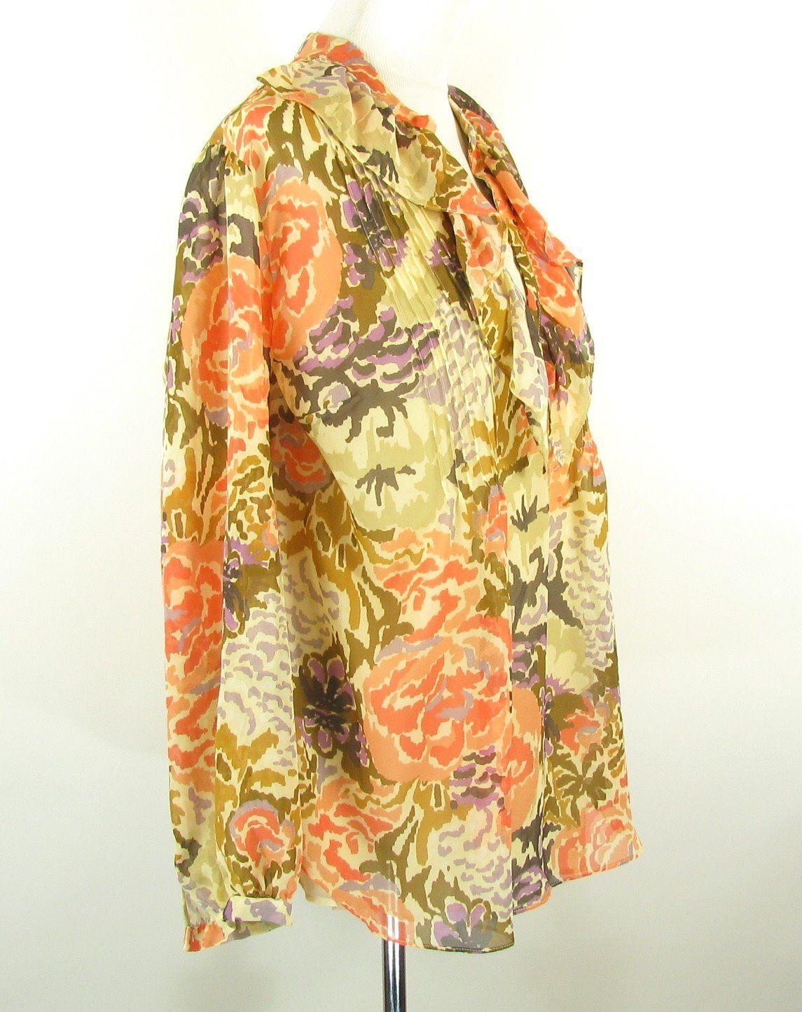 RALPH LAUREN Plus Size 1X New Sheer Silk Floral Top  & Cami