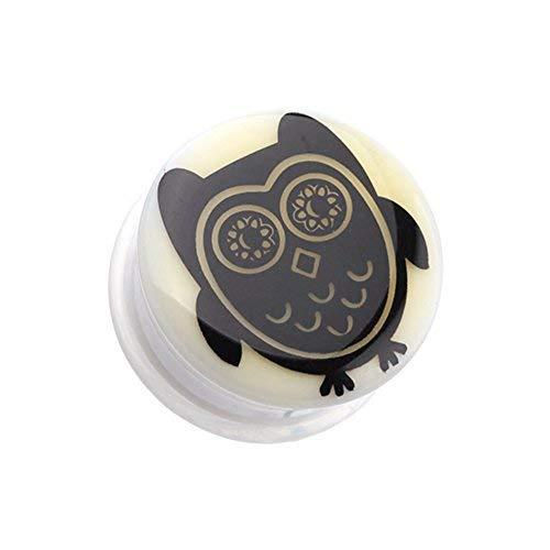 Primary image for Glow in the Dark Baby Owl Single Flared WildKlass Ear Gauge Plug (Sold as Pairs)
