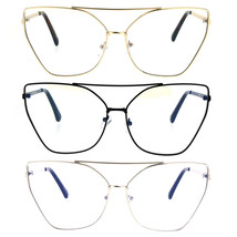 Womens Gothic Retro Squared Futurism Flat Panel Clear Lens Eye Glasses - $12.95