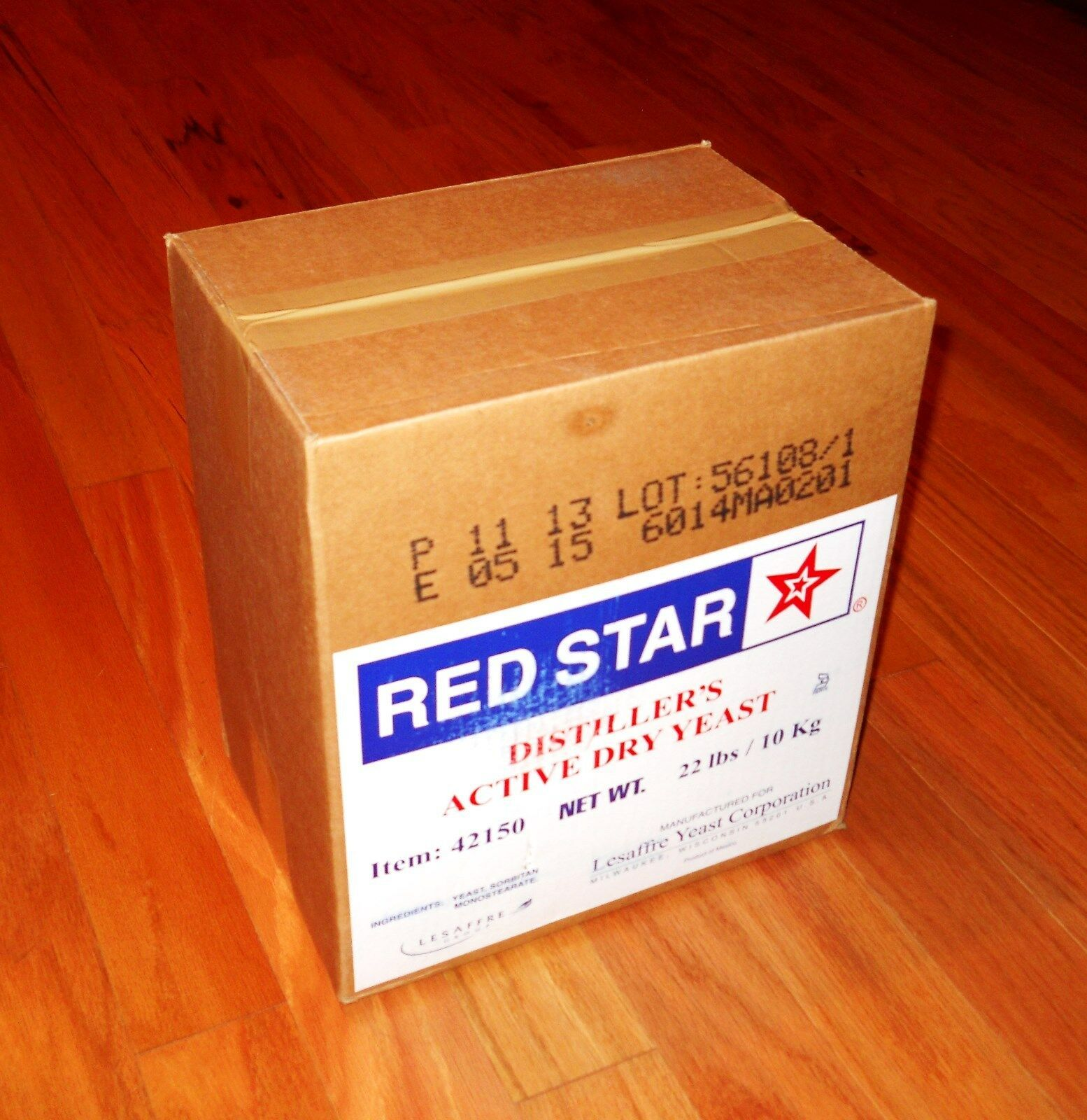 DISTILLERS YEAST 22lb BOX PACK RED STAR DADY FOR BOURBON WHISKEY VODKA MOONSHINE