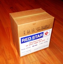 DISTILLERS YEAST 22lb BOX PACK RED STAR DADY FOR BOURBON WHISKEY VODKA MOONSHINE image 1