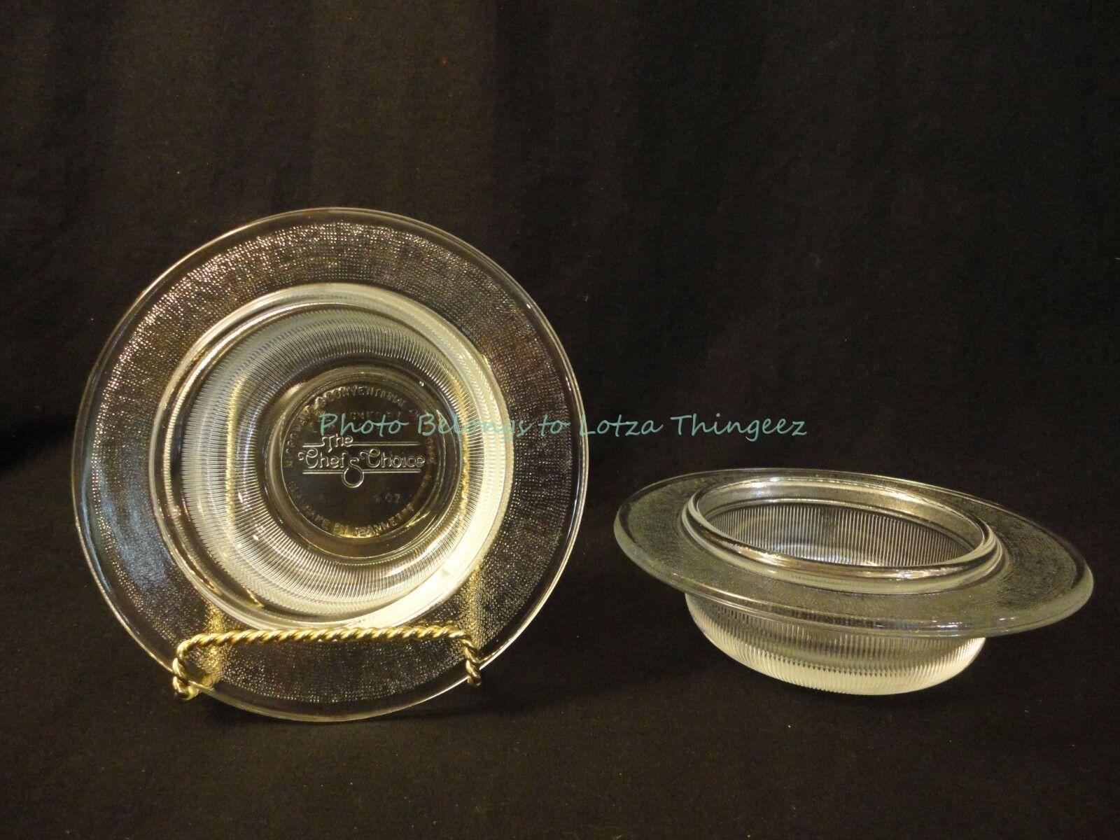 Vintage L&M Vignelli The Chef Choice 2 - Glasbake by Jeannette 9 Oz Bowls