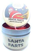 Santa Farts 4oz All Natural Soy Candle Tin Fun Christmas Novelty Candle - $9.86