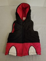 Mickey Mouse Puffer Jacket Coat Vest  5T Black Red Disney Store - $239,45 MXN