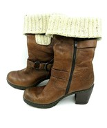 Women's B.O.C. Brown Leather Boots Size 8 / 39 - $24.70