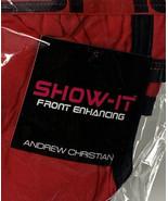 Andrew Christian NWT Show It Locker Room Jock red Black Large A5 - $23.76