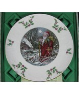 Royal Doulton 1980 Victorian Christmas St Nicks Arrival Plate Boxed Bone... - $17.95