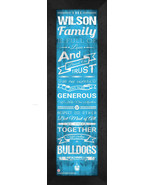 "Personalized The Citadel Bulldogs ""Family Cheer"" 24 x 8 Framed Print - $39.95"