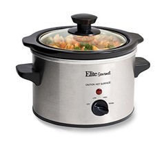 Gourmet Stainless Steel Slow Cooker Kitchen Cooking Elite Crock Pot Silv... - $15.19