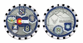 "PETERSON AIR FORCE BASE SPACE COMMAND NORTHERN COMMAND 1.75"" CHALLENGE COIN - $17.14"