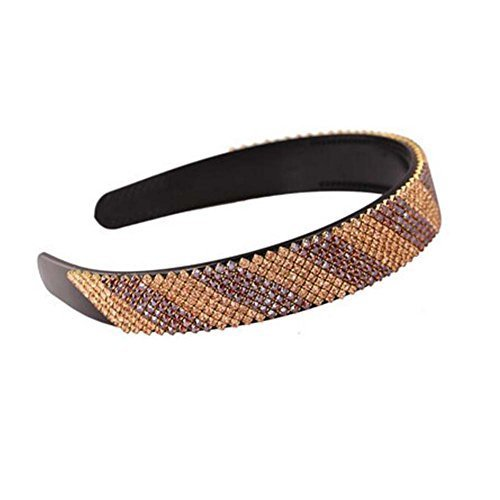 Strips Beading Hair Hoop Bling Bling Headband Wide Hairband Hair Accessory Women