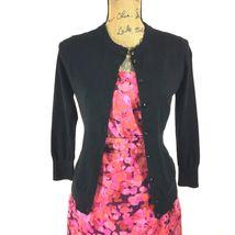 SET Ann Taylor LOFT Dress J.Crew Clare Cardigan Sweater Pink Purple Black 2 S LN image 3