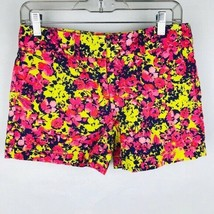 Ann Taylor Loft Women Size 0 Pink Yellow Floral Print Shorts - $17.79