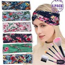 Headbands for Women Teen Girls Boho Wide Yoga Head Wrap Floral Style Ela... - $14.00