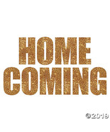 Homecoming Gold Glitter Cutouts - $12.49