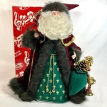 "San Francisco Music Box 15"" Father Christmas Pelznickel Old World Santa ... - $42.92"