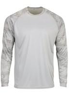 Sun Protection Long Sleeve Dri Fit Aluminum Gray sun shirt Camo Sleeve SPF 50+ image 1
