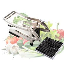 Stainless Steel Potato Chips Strip Cutting Cutter Machine Maker Slicer C... - €31,55 EUR