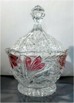Decorative Cut Glass Lead Crystal Candy Dish Bowl with Lid - $23.21